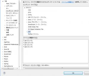 EclipseでJSPの文字コードを設定する