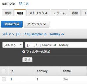 Lambda(Node.js)からDynamoDBのテーブルを更新する